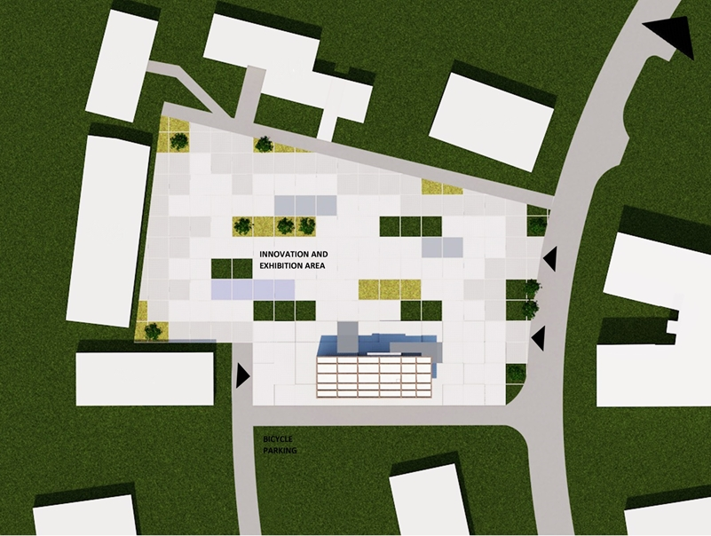 Public innovation square with location of GTBLab in Heerlen